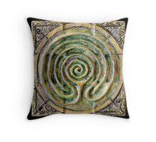 Spiral nine: toward center Throw Pillow