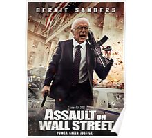 Bernie Sanders Attack on Wall Street Poster