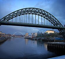 Tyne bridge in blue by Gillian Cross
