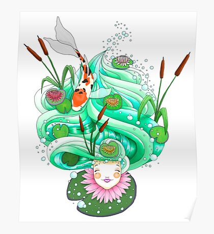 Look upon the flowering lilypads Poster