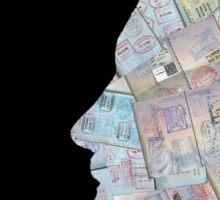 Passport Silhouette Profile Sticker