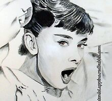 Audrey Hepburn (in Roman Holiday) IPhone Case by Antonio  Luppino