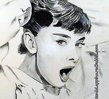 Audrey Hepburn (in Roman Holiday) IPhone Case by Antonio  Luppino