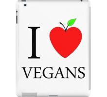 I Love Vegans iPad Case/Skin