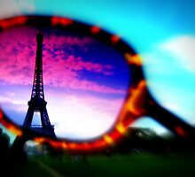 Eiffel Tower Through Sunglasses by ruthgeorge