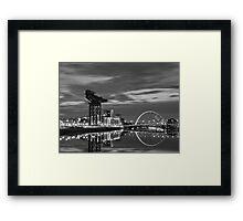 Squinty Bridge Glasgow Framed Print