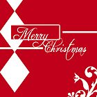 Red & White Christmas Card by StacyLee