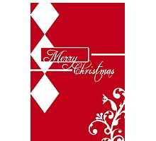 Red & White Christmas Card Photographic Print