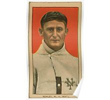 Benjamin K Edwards Collection Admiral Schlei New York Giants baseball card portrait 001 Poster