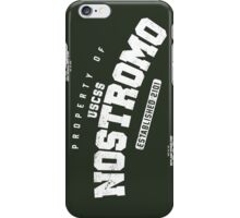 Property of USCSS Nostromo - white iPhone Case/Skin