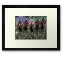 5 Trees & Mountains Framed Print