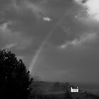 Rainbow in Black and White, Donegal, Ireland by Dave  Kennedy