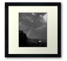 Rainbow in Black and White, Donegal, Ireland Framed Print