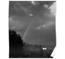 Rainbow in Black and White, Donegal, Ireland Poster