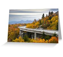 Linn Cove Viaduct - Blue Ridge Parkway Fall Foliage Greeting Card
