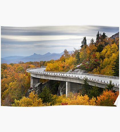 Linn Cove Viaduct - Blue Ridge Parkway Fall Foliage Poster