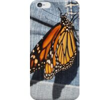 Butterfly on Jeans iPhone Case/Skin