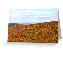 View from atop Bristol Mountain, NY Greeting Card