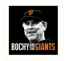 Bruce Bochy and the San Francisco Giants Art Print