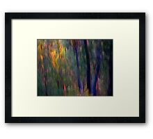 Abstract Faeries in the Forest Framed Print
