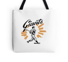 San Francisco Giants Schedule Art from 1958 Tote Bag