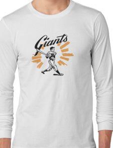 San Francisco Giants Schedule Art from 1958 Long Sleeve T-Shirt