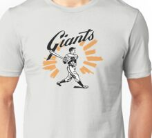 San Francisco Giants Schedule Art from 1958 Unisex T-Shirt