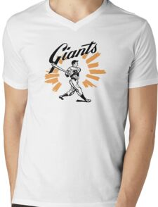San Francisco Giants Schedule Art from 1958 Mens V-Neck T-Shirt