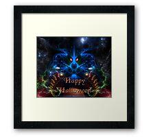 Halloween Blue Head Dragon Framed Print