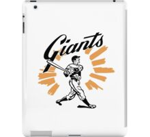 San Francisco Giants Schedule Art from 1958 iPad Case/Skin