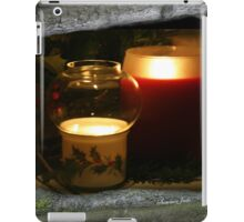 Holly Leaves and Candles All Aglow iPad Case/Skin