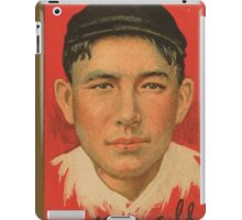 Benjamin K Edwards Collection Albert Bridwell New York Giants baseball card portrait iPad Case/Skin
