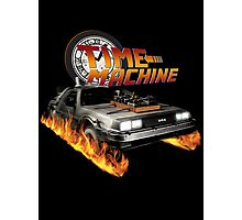 Time Machine Classic Car Delorean Photographic Print