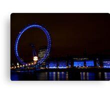London Eye at Twilight Canvas Print