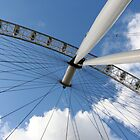 London Eye on Blue Sky by Heidi Hermes