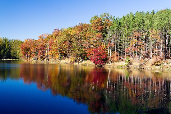 Strahl Lake, Brown Co. St. Park, Indiana by Kenneth Keifer