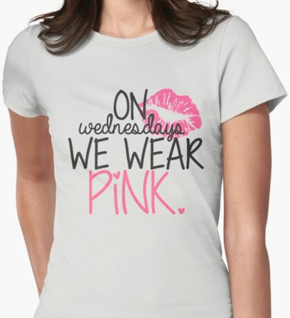 On Wednesdays We Wear Pink Womens Fitted T-Shirt