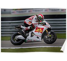 Simoncelli in Assen after the crash 2011 Poster