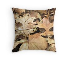 Crunchy Leaves Throw Pillow