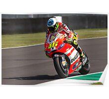 Valentino Rossi in Mugello 2011 Poster
