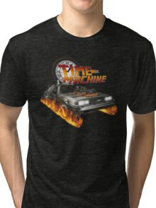 Time Machine Classic Car Delorean Tri-blend T-Shirt