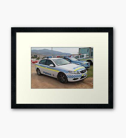 Ford Police Car- Royal Tasmania Show 2011 Framed Print