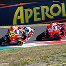 Valentino Rossi &amp; Nicky Hayden in Mugello 2011 by corsefoto