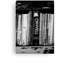 The Man in the Bookcase Canvas Print