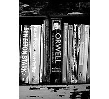 The Man in the Bookcase Photographic Print