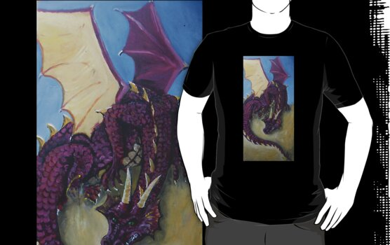 Red Dragon T-shirt by Dianne  Ilka