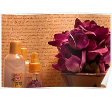 Purple Blooms and Perfumes Poster
