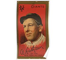 Benjamin K Edwards Collection Arlie Latham New York Giants baseball card portrait 001 Poster
