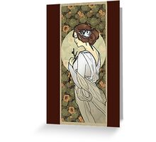 Cinderella Nouveau Old Stories Greeting Card