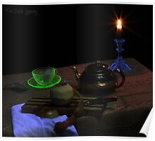 Black-Light Tea Cup Poster